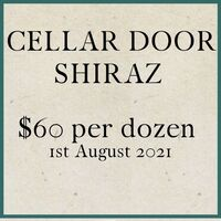 CELLAR DOOR SHIRAZ at $58.00 per dozen